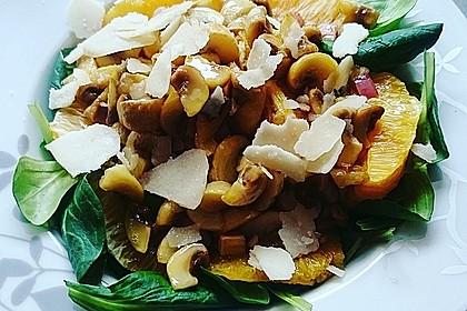 Salat mit Honigchampignons 7