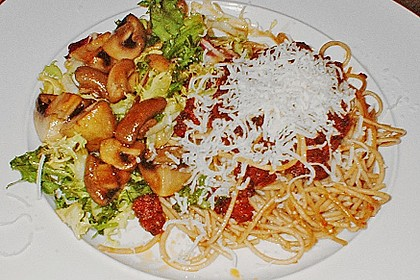 Salat mit Honigchampignons 55