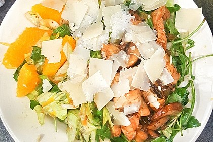 Salat mit Honigchampignons 37