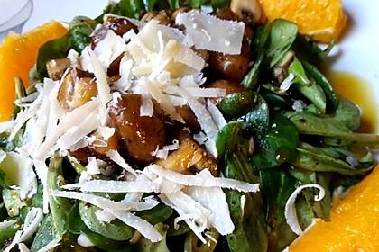 Salat mit Honigchampignons 51