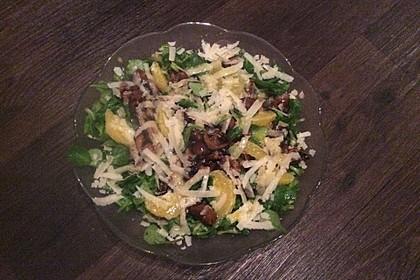 Salat mit Honigchampignons 62