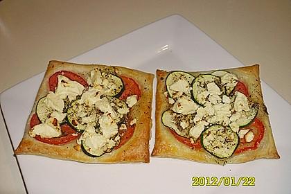 Blätterteig mit Tomate, Zucchini und Feta 17