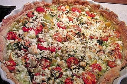 Blätterteig mit Tomate, Zucchini und Feta 20