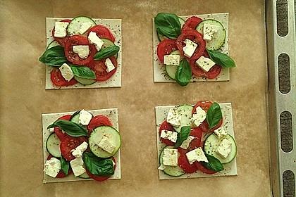 Blätterteig mit Tomate, Zucchini und Feta 28