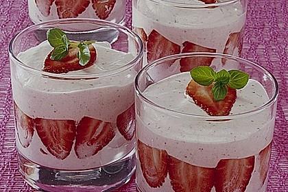 Erdbeer- Minz - Mousse