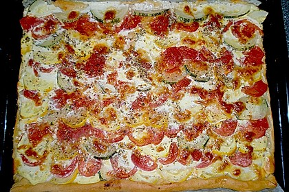 Tomaten - Zucchini - Kuchen