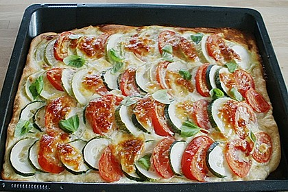 Tomaten - Zucchini - Kuchen 1