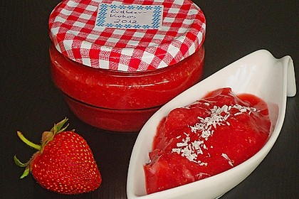 Erdbeermarmelade mit Kokosmilch