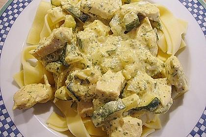 Tagliatelle mit Frischkäse - Zucchini - Sauce