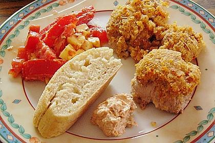 Schweinefiletmedaillons mit Kräuter - Tomaten - Haube 0