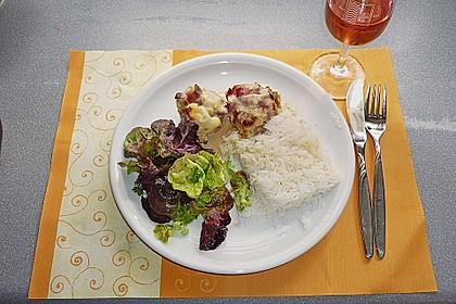 Gefüllte Champignons mit Schafskäse - Hackfleisch an Käsesauce 2