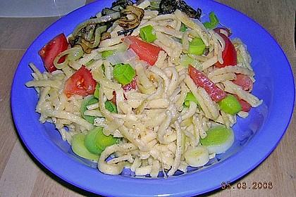 Käsespätzle mit Gemüse 2