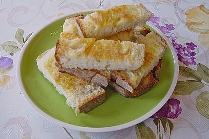 Gröstetes Weißbrot mit Olivenöl 0