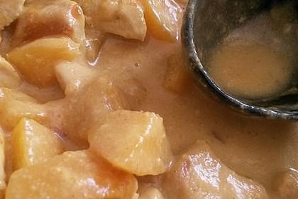 Hühnchen in Pfirsich - Curry - Rahmnudeln 6