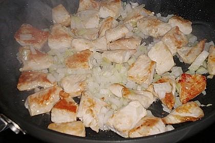 Hühnchen in Pfirsich - Curry - Rahmnudeln 16