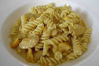 Hühnchen in Pfirsich - Curry - Rahmnudeln 2