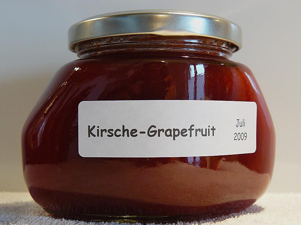 kirschen grapefruit marmelade konfit re rezept mit bild. Black Bedroom Furniture Sets. Home Design Ideas