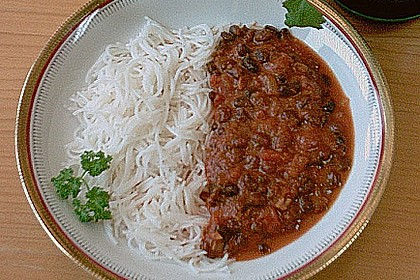 Scharfes Chili mit schwarzen Bohnen 1