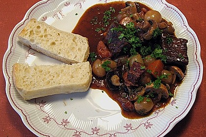 Rindfleisch in Rotwein mit Gemüse 3