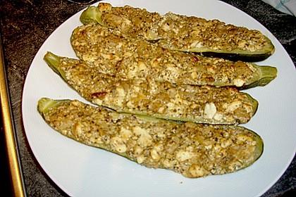 Überbackene Zucchini mit Schafskäse 48