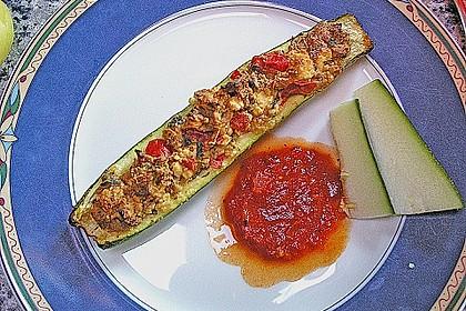 Überbackene Zucchini mit Schafskäse 33