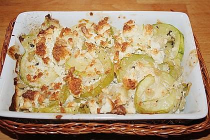 Überbackene Zucchini mit Schafskäse 44