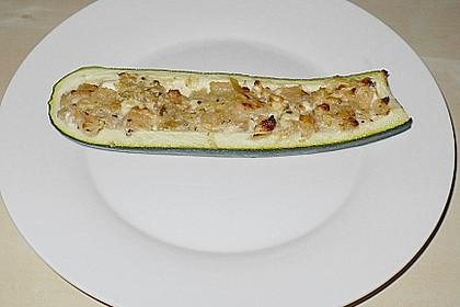 Überbackene Zucchini mit Schafskäse 42