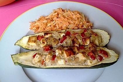 Überbackene Zucchini mit Schafskäse