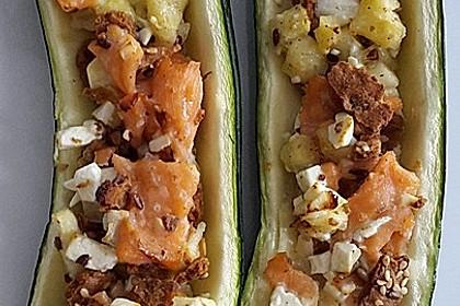 Überbackene Zucchini mit Schafskäse 17