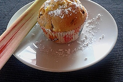 Rhabarber - Muffins 2