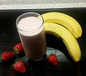 Erdbeer - Bananen - Drink (Bild)