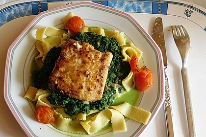 Lachs - Spinat - Nudeln 4