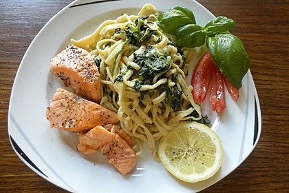 Lachs - Spinat - Nudeln 3