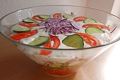 Griechischer Gyros - Schichtsalat