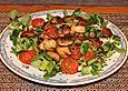 Warmer Tomaten - Pilz - Feldsalat an Balsamico