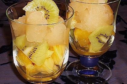 Caipirinha Sorbet mit Ananas 0