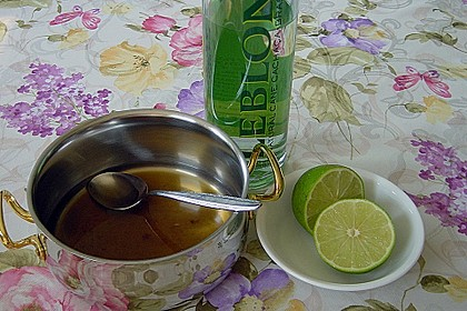 Caipirinha Sorbet mit Ananas 3