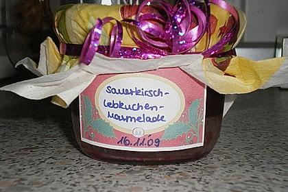 Weihnachtliche Sauerkirsch - Lebkuchen - Marmelade 4