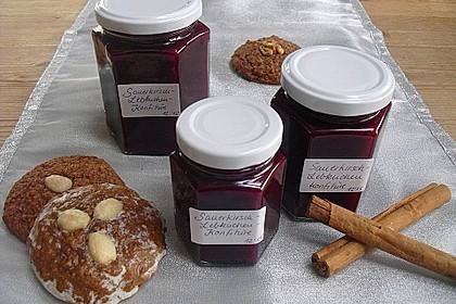Weihnachtliche Sauerkirsch - Lebkuchen - Marmelade 2