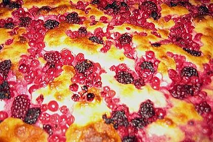 Beerenkuchen mit Schmandguss 1