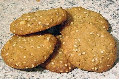 Erdnuss - Sesam - Plätzchen 11