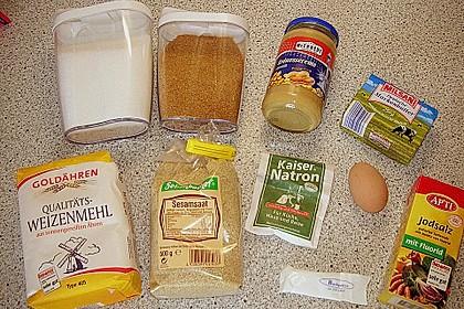 Erdnuss - Sesam - Plätzchen 3