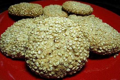 Erdnuss - Sesam - Plätzchen 10