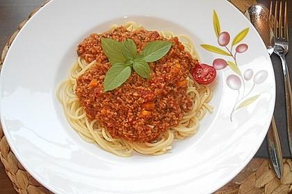 Vegetarische Bolognese 3