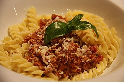 Vegetarische Bolognese 1