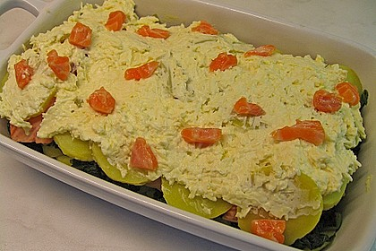 Spinat - Lachs - Kartoffelauflauf 3