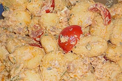 Gnocchi Salat mit Joghurt - Pesto - Dressing 2