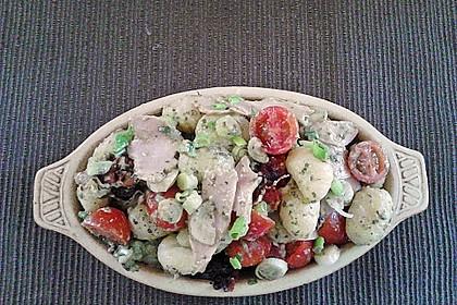 Gnocchi Salat mit Joghurt - Pesto - Dressing 3