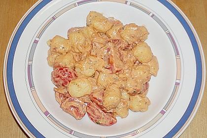 Gnocchi Salat mit Joghurt - Pesto - Dressing 1
