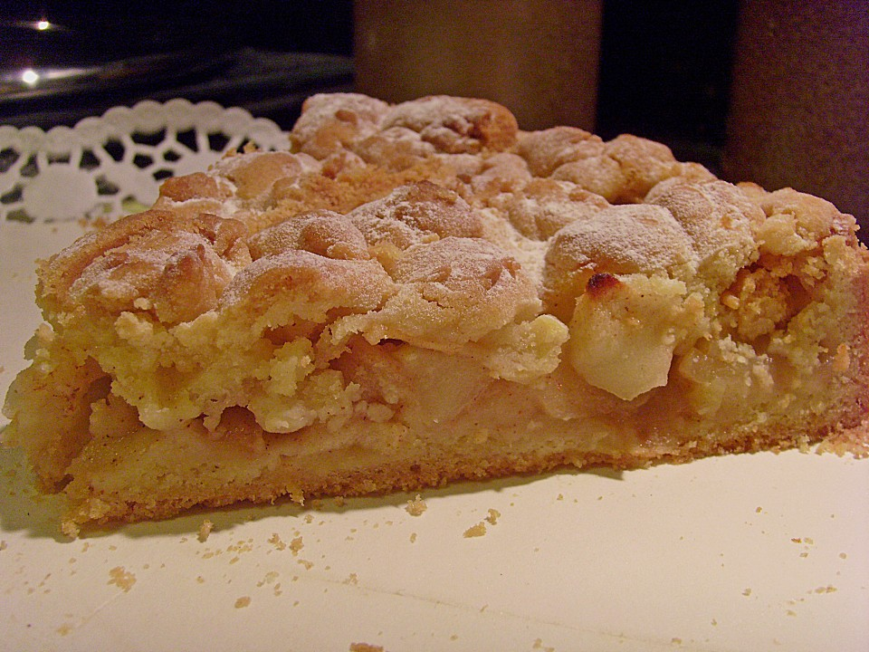 Apfel zimt nusskuchen chefkoch